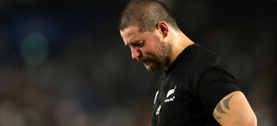 Dane Coles pictured shortly after the final whistle against England. Photo: Getty Images.