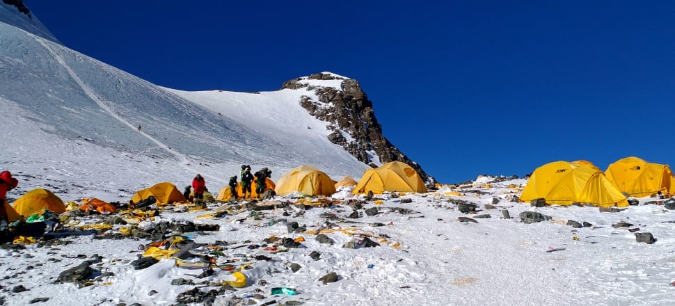 Climbing Mt Everest today does not require great mountaineering skill, and is far from a wilderness experience. Photo: Getty Images
