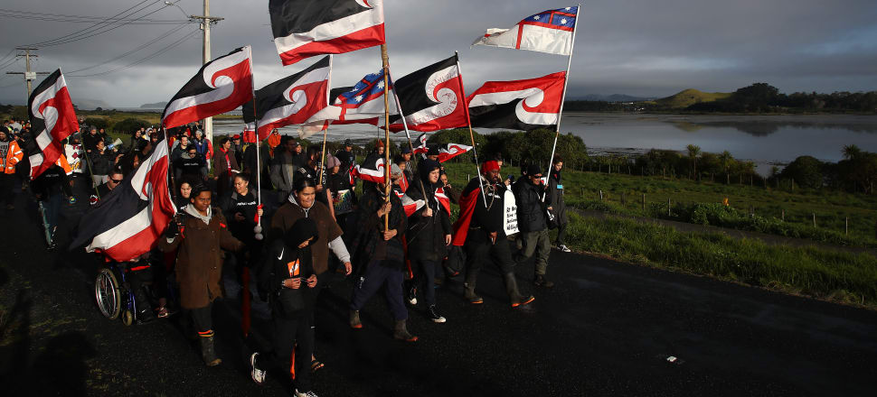The ongoing use of Māori language at Ihumātao has done much to warm the hearts of those of us throughout Aotearoa who value and seriously care about Māori language. Photo: Getty Images