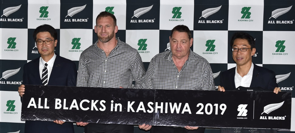 Regardless of what happens at the World Cup, Steve Hansen and Kieran Read will have always had this special moment together. Photo: Getty Images.