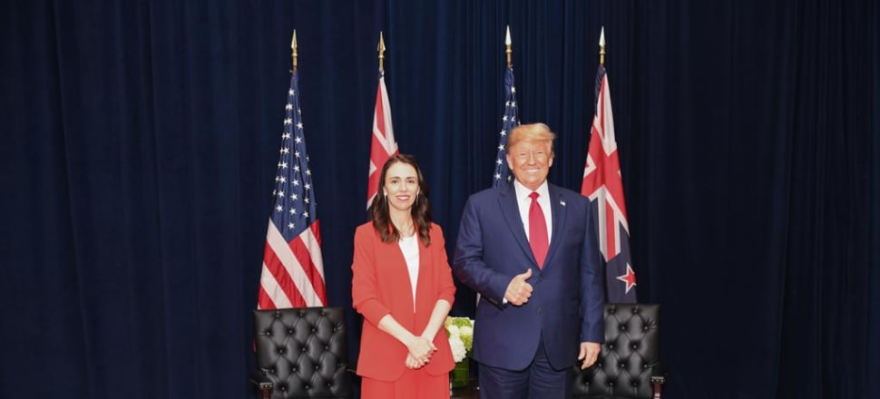 Donald Trump was keen to mention Kiwi golf legend Sir Bob Charles in his meeting with Ardern. Photo: Supplied