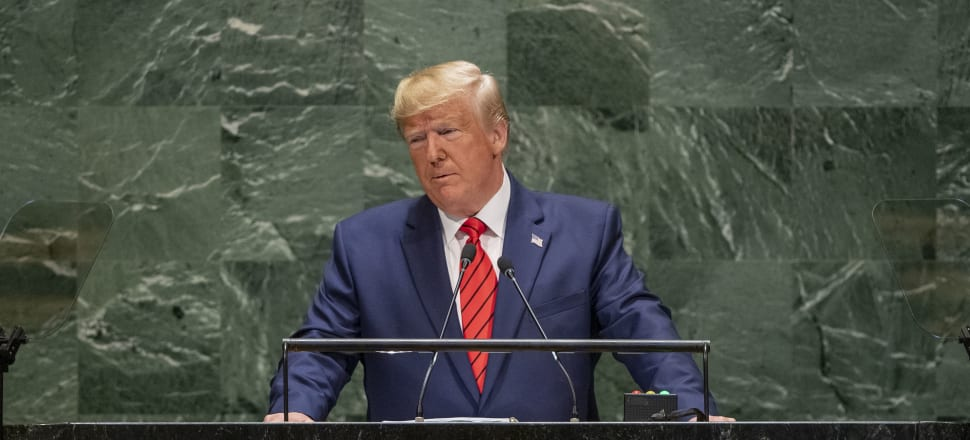 US President Donald Trump's 2019 speech to the United Nations General Assembly had a similar flatness to his effort last year. Photo: United Nations.