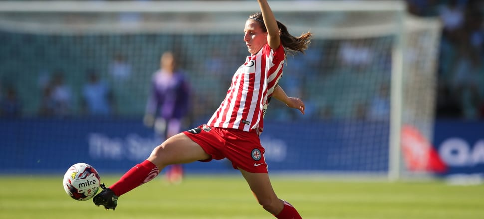 Football Ferns veteran Rebekah Stott has benefited from playing in the W-League, winning three consecutive titles with Melbourne City. Photo: Getty Images