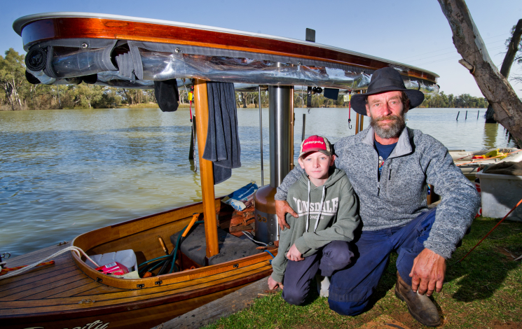 Leisurely Trip Along Murray In Homemade Boat