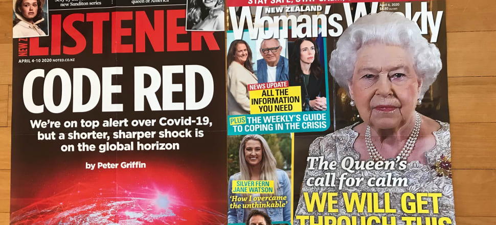"""""""We will get through this"""": final posters of the Woman's Weekly and the Listener on a kitchen floor in Te Atatu."""