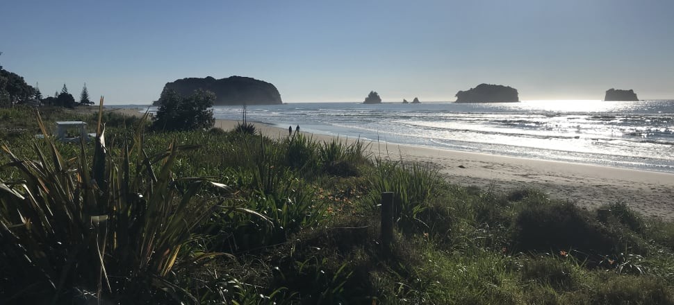 Whangamata Beach and other parts of the Coromandel could yet be cut off by roadblocks. Photo: Tim Murphy