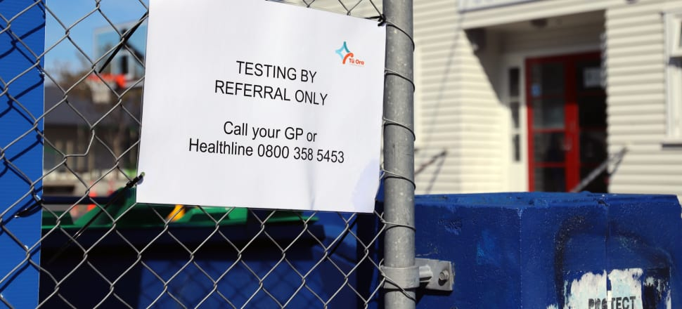 Testing centre at Newtown School, Wellington. Photo: Lynn Grieveson