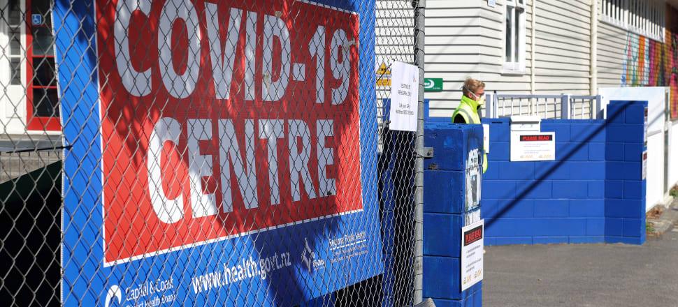 A Covid-19 testing centre in Wellington. Photo: Lynn Grieveson