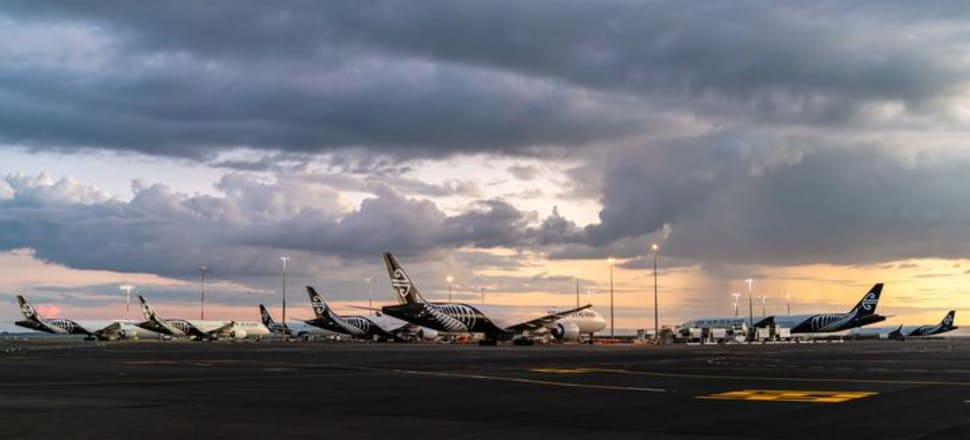 Air New Zealand planes parked up at Auckland Airport during the Covid-19 pandemic. Photo: Supplied / Air New Zealand