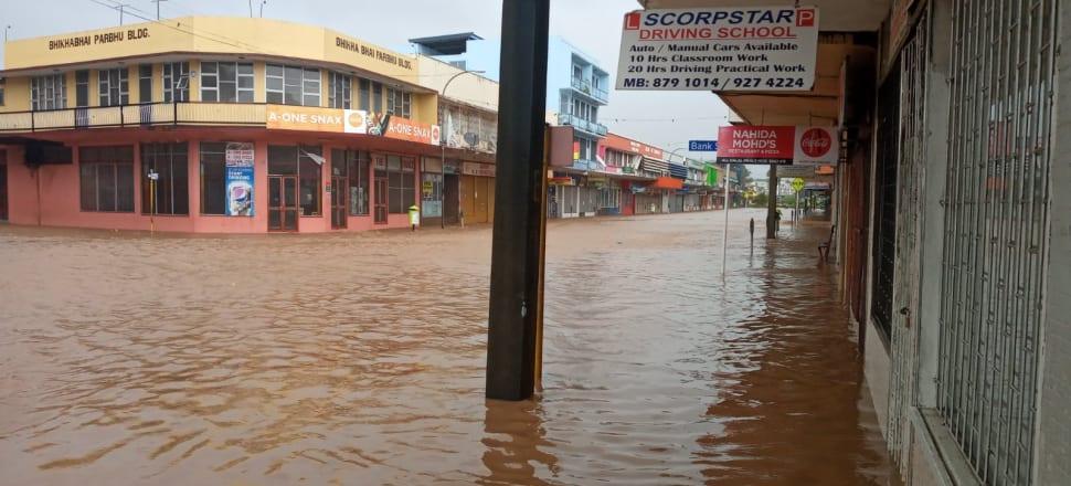 Floodwaters in the Viti Levu town of Ba.  Photo: Twitter/Lisi Ali-Krishna.