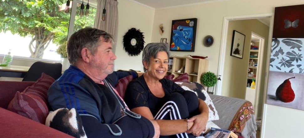 Paula Bennett and her husband Alan in their bubble on the Te Atatu peninsula.