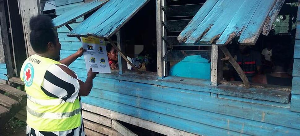 Fiji's grassroots Covid-19 response. Photo: Fiji Red Cross.