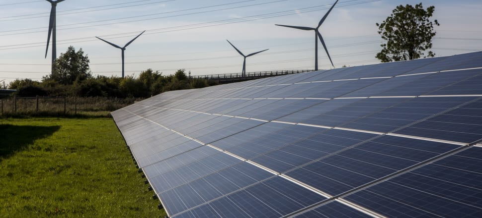 Wind capacity is expected to increase by at least a factor of four, and solar capacity is expected to grow from a near-zero base to a capacity in the order of what we see now for wind; growth by a factor of 20 over 15 years. Photo: Getty Images