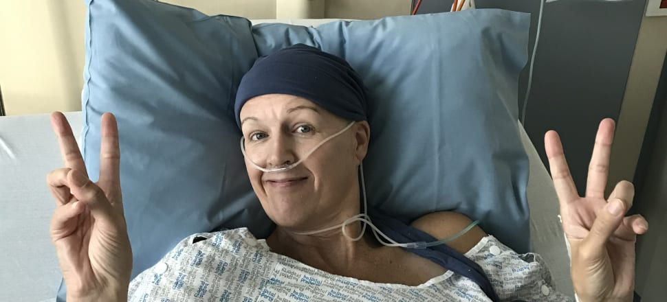 Former Canterbury Flame and Bahrain netball captain Kelly Hutton is in good spirits after surgery for ovarian cancer at Christchurch Women's Hospital last month. Photo: Megan Hutton.