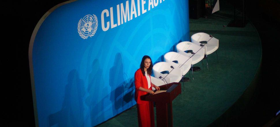 Prime Minister Jacinda Ardern introduced the world to kaitiakitanga at the UN. Photo: Sam Sachdeva.