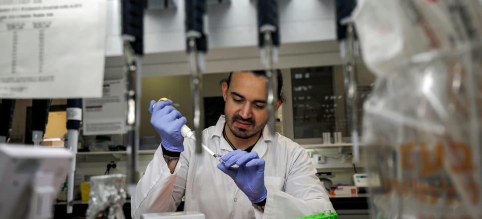 A scientist in Israel works on a vaccine for COVID-19. Photo: Getty Images