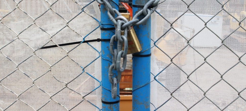 When the locks and chains come  off we will need to fight for a better future. Photo: Lynn Grieveson
