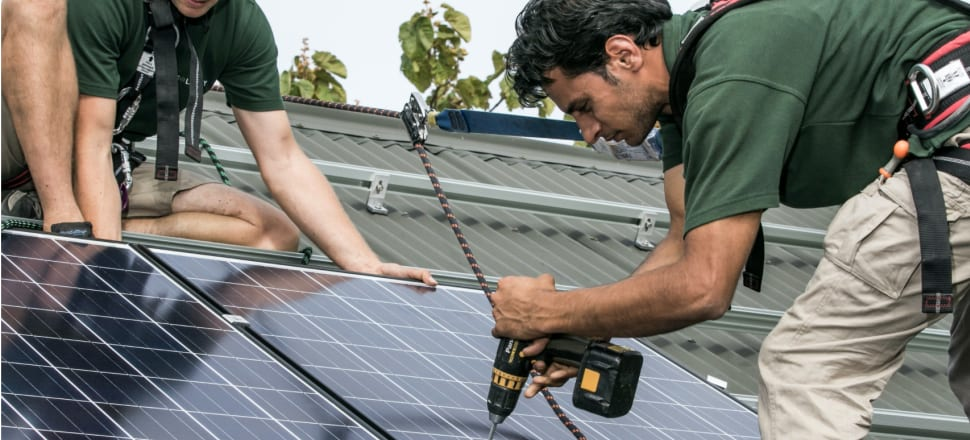 Solar installation has been boosted overseas by subsidies. in New Zealand progress has been slow. Photo: solarcity.