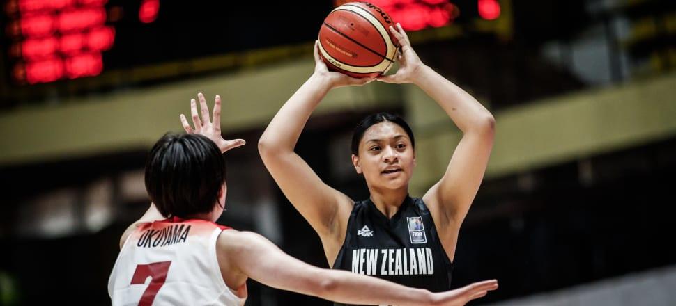 Leah Mafua looks for her Junior Tall Ferns team-mates during the FIBA U18 Asian Championships in Bengluru, India, in 2018. Photo: Basketball NZ