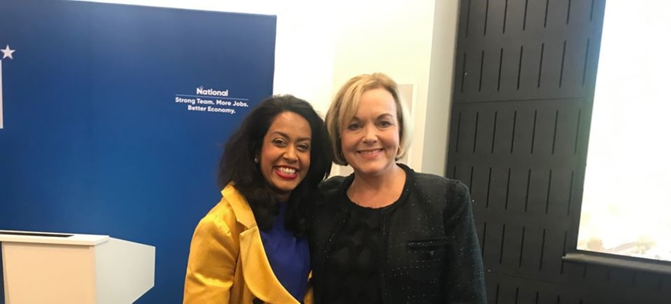 Auckland Central aspirant Nuwanthie Samarakone, pictured with National leader Judith Collins, has threatened legal action over an alleged dirty tricks campaign against her within the party. Photo: Nuwanthie Samarakone/Facebook.