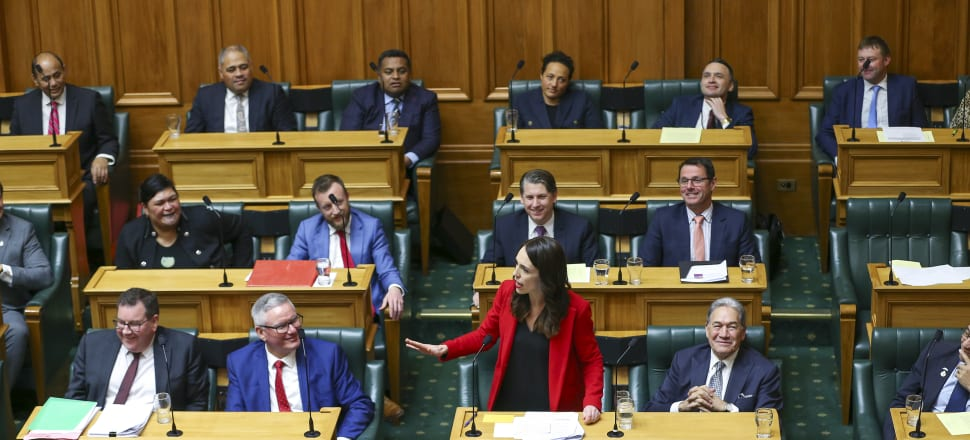 Good cheer was in abundance on the Government's side of the House for the last sitting day of Parliament before the 2020 election. Photo: Getty Images.