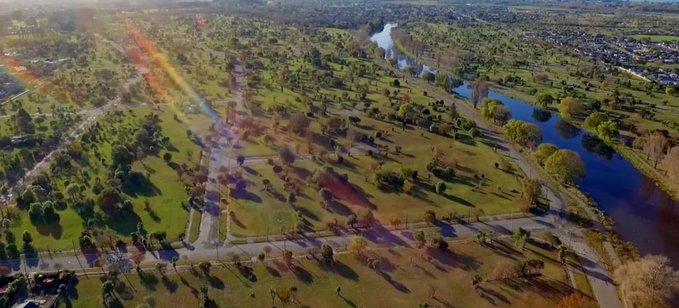 The Otakaro Avon River Corridor was cleared of around 5000 homes after the earthquakes. Photo: Screenshot from video