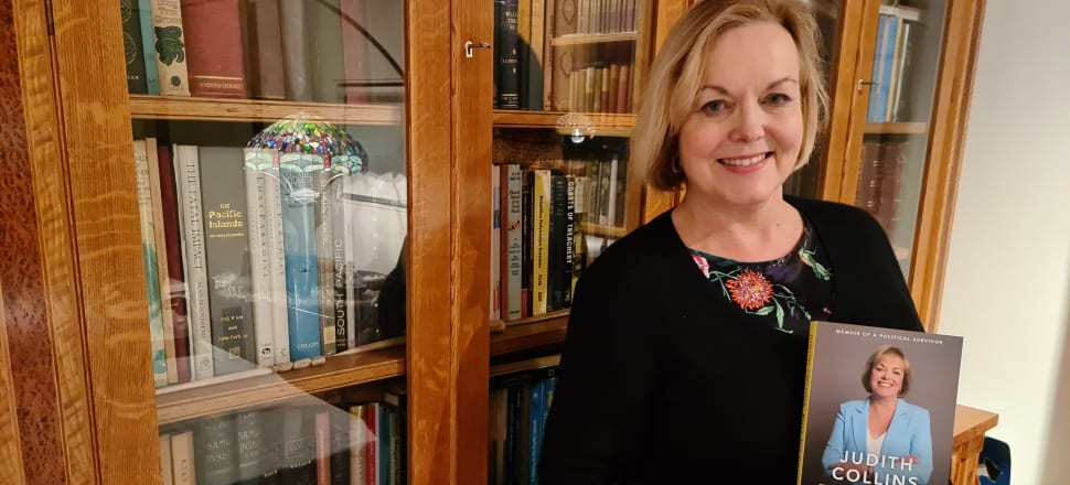 This week's bookcase star is the biggest-selling author in New Zealand right now, National Party leader Judith Collins, holding her memoir Pull No Punches. She is pictured at her Auckland home in front of her husband David Wong-Tung's magnificent collection of first-edition books about the Pacific.