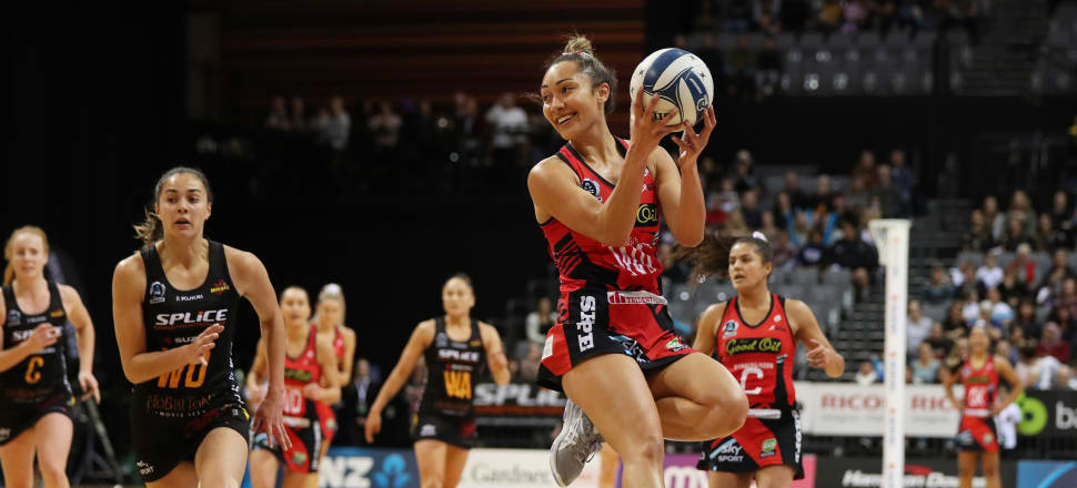 Back on court after a year after rupturing her ACL, savvy midcourter Erikana Pedersen is playing a pivotal role in the Tactix' best ANZ Premiership season, making the grand final for the first time. Photo: Michael Bradley.