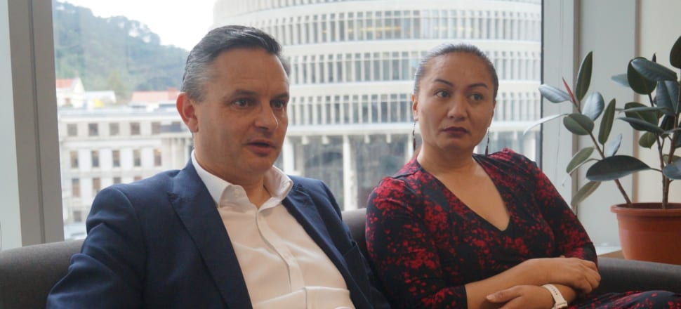 Greens co-leaders James Shaw and Marama Davidson want to reassure die-hard supporters that they've done enough in Government, and reassure on-the-fence voters that the Greens can govern responsibly without a NZ First handbrake. Photo: Sam Sachdeva