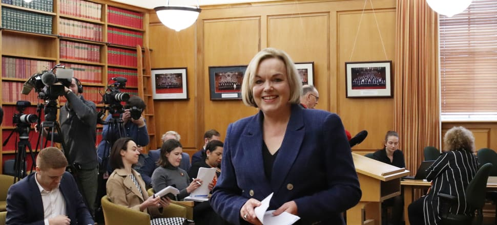 A smile can go a long way, National leader Judith Collins says. Photo: Lynn Grieveson.