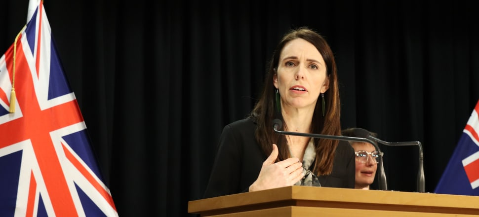 Prime Minister Jacinda Ardern at this morning's press conference. Photo: Lynn Grieveson