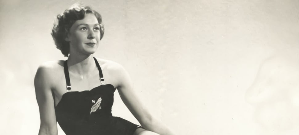 Jean Stewart swam at two Olympics and two Empire Games, and later eloped with her swimming teammate, Lincoln Hurring. Their son, Gary, became a Commonwealth gold medallist. Photo: Hurring family collection.