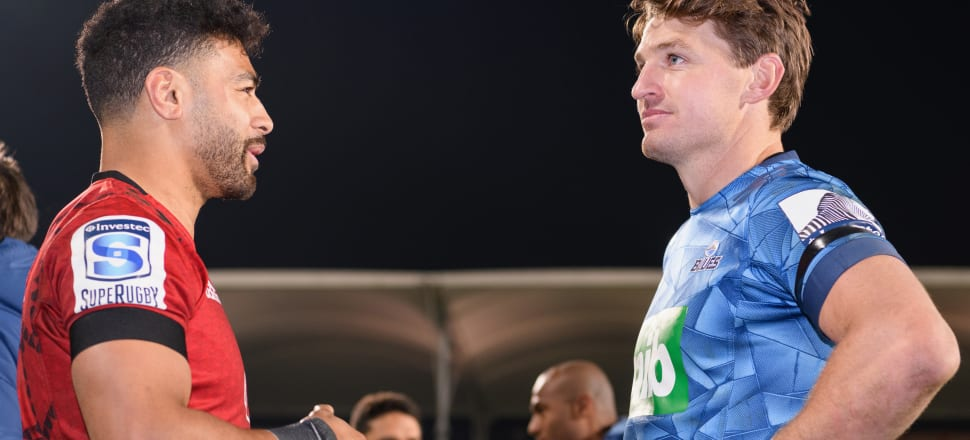 The star showdown that might not happen: Richie Mo'unga and Beauden Barrett.  Photo: Getty Images