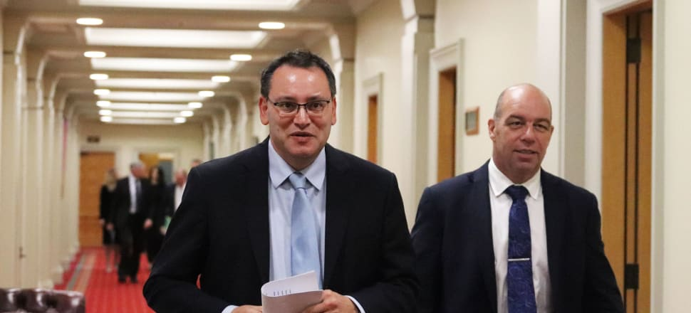 Shane Reti (left) is ranked at number five on the National Party list, but he will win his electorate seat anyway. However his caucus colleague Brett Hudson (right) is one of several sitting MPs who face being ousted from Parliament thanks to their list rankings. Photo: Lynn Grieveson