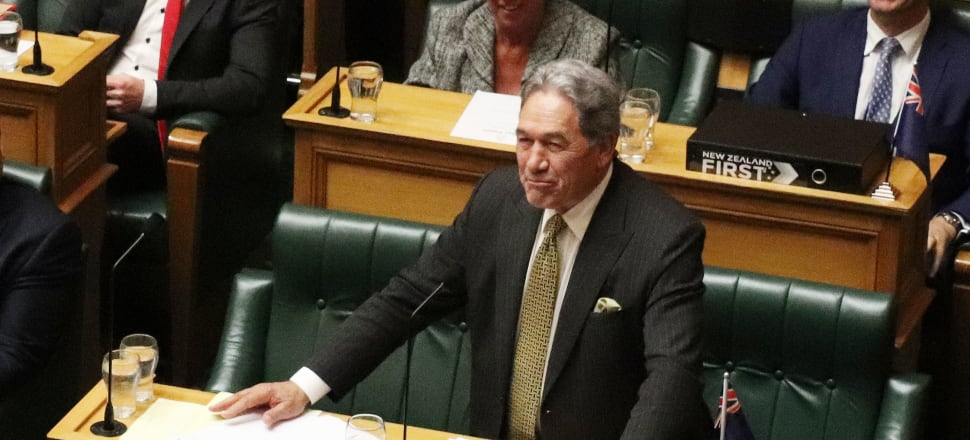 Winston Peters' naming names in Parliament over his super leak paints a different picture from his court appeal. Photo: Lynn Grieveson