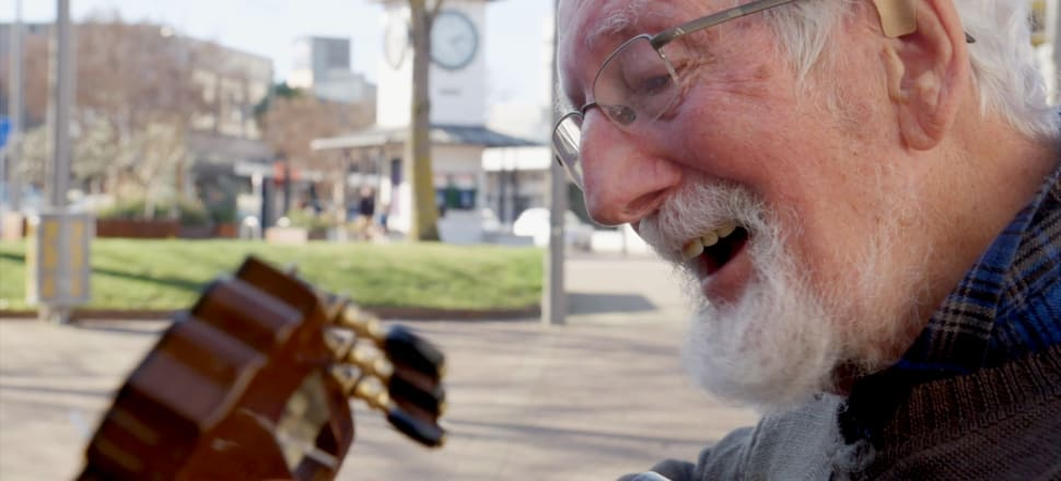 Paul Marks may well be New Zealand's oldest busker.