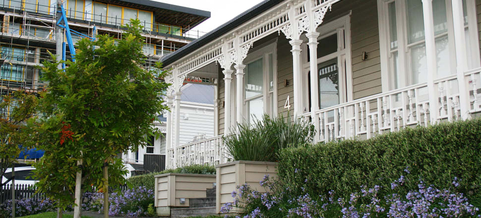 The value of this house and the land it's on in Grey Lynn in Auckland rose by $500,000 to $4.0 million between February of this year and July of this year, according to valuations from Homes.co.nz. It was last sold in August 2007 for $1.5m. Photo: Lynn Grieveson