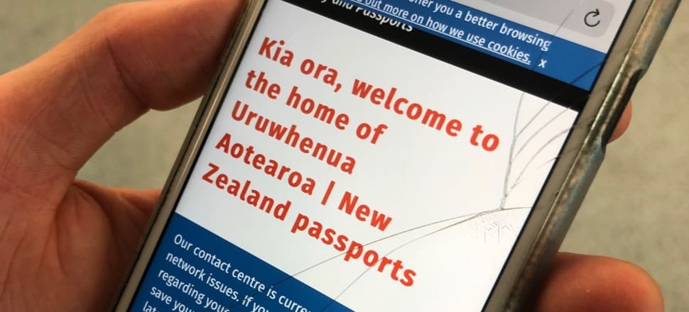 Ever tried to order a new passport on a phone with limited data? Photo: Alexia Russell