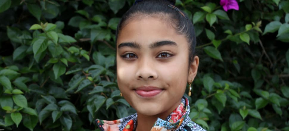 Aysha Hussan has just begun a full scholarship at Botany Downs Secondary College, and hopes to become a doctor and a history-making Olympic track athlete for New Zealand. Photo: supplied.