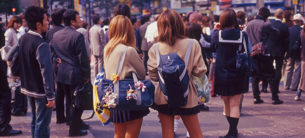Tokyo street scene, photographed by author Colleen Maria Lenihan during her years living and working in Japan.