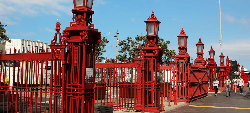 Eric Crampton isn't convinced by talk of moving Auckland's port to put in a waterfront stadium, museum or other large, iconic, and expensive facility behind the red fence. Photo: Lynn Grieveson