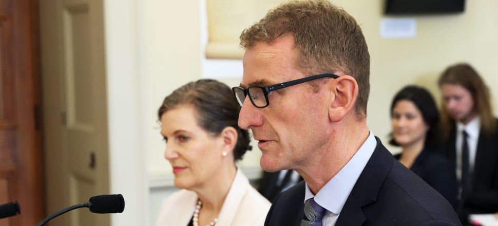 NZSIS director-general Rebecca Kitteridge and GCSB director-general Andrew Hampton spoke about the rise in public tips following March 15 during a briefing to senior MPs. File photo: Lynn Grieveson.