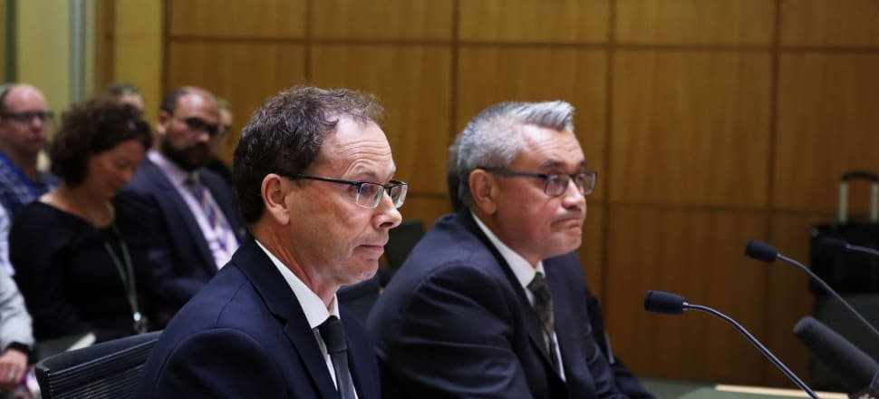 """RNZ chief executive Paul Thompson and board chairman Jim Mather defended the organisation's handling of proposals for a new youth station and a Concert FM restructure, but conceded there had been """"miscommunication"""" with the Government. Photo: Lynn Grieveson."""