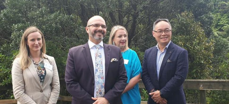 The new political party Sustainable New Zealand has been hit with a number of resignations, including board chair and party secretary Helen Cartwright (second from right).  Photo: Facebook.