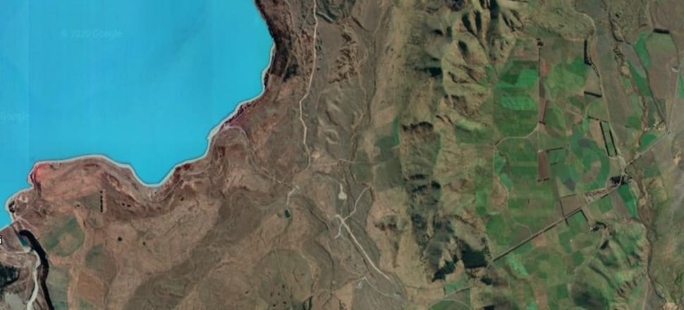 """Despite the rise of intensive farming, the Mackenzie Basin has a """"critical mass"""" of connected natural ecosystems and landscapes in need of protection. Photo: Google Maps"""