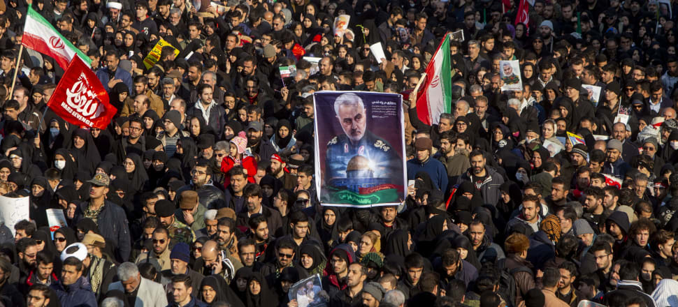 The killing of top Iranian military commander Qassem Suleimani is marked by a funeral ceremony in Tehran. Photo: Getty Images