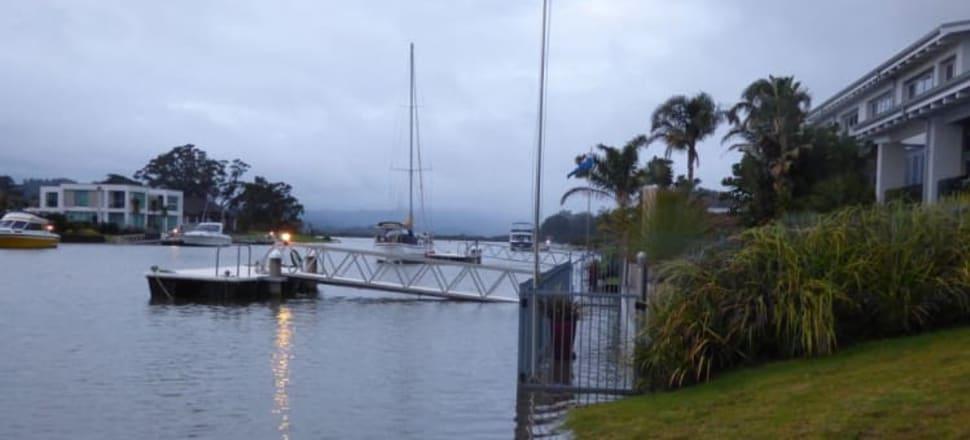 Coastal properties flood in Whitianga on the Coromandel. Photo: Thomas Everth