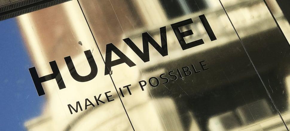 A Huawei sign in Spain. Photo: Lynn Grieveson