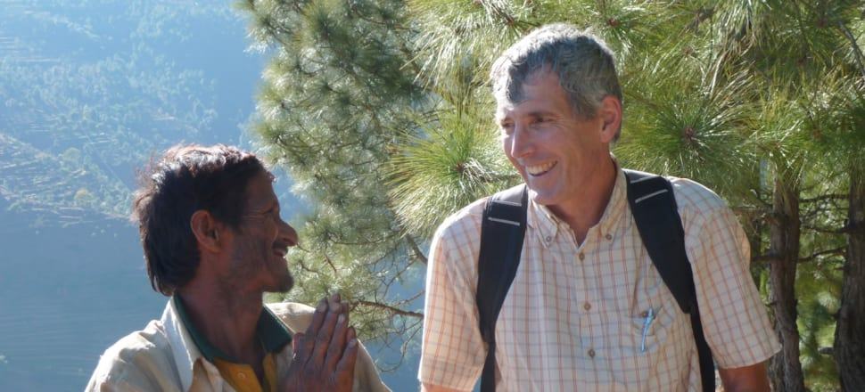 New Zealand surgeon Ian Bissett at Patan, Nepal, in 2010 with a patient he had operated on just three previously at a surgical camp. Photo: Colin Wilson.