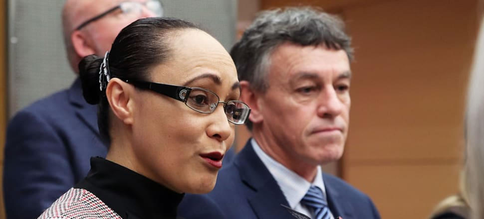 Building and Construction Minister Jenny Salesa met industry heads in crisis talks with other ministers in August 2018 after massive Fletcher Building losses and the collapse of Ebert Construction. That led to an industry accord and now a 'Transformation Plan'. Photo: Lynn Grieveson